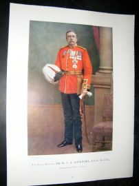 Late Gen W.S.A Lockhart 1900 Military Portrait Print. Boer War